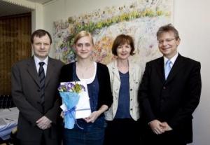 Guðmundur Hálfdanarson, Kristín Lena Þorvaldsdóttir, Margrét Eggertsdóttir og Jón Atli Benediktisson