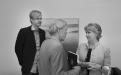 Frá úthlutun úr Sjóði Selmu og Kays Langvad í júní 2015. Kristín Ingólfsdóttir, rektor Háskóla Íslands, ræðir við Kjartan Langvad en hann er sonarsonur Selmu og Kays.