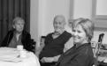 Frú Margaret Scheving, Bent Scheving Thorsteinsson, stofnandi sjóðsnis og Kristín Ingólfsdóttir, rektor Háskóla Íslands.